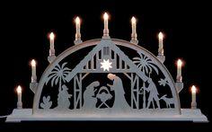 Schwibbogen - Christi Geburt mit Licht - 78cm x 42cm