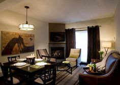 Superbly situated in the Bow Valley of the Canadian Rockies right in the alpine village of Canmore, Grande Rockies Resort is ideal for families, golf and ski enthusiasts. Alpine Village, Hotel Interiors, Banff, Hotels And Resorts, Vacation, Luxury, Table, Furniture