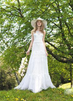 vestido de noiva hippie com chapeu palha casamento praia yolancris boho chic 2015