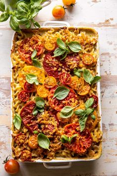 One Pot 4 Cheese Caprese Mac and Cheese   halfbakedharvest.com Basil Recipes, Italian Recipes, Half Baked Harvest, Good Food, Yummy Food, Dessert For Dinner, Perfect Food, Mac And Cheese, Food Inspiration