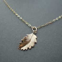 Gold filled, dainty leaf, so chic!