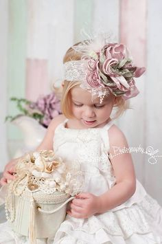 Shabby Chic headband Spring headbands baby girl by JLexiJolie, $28.99