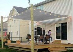 Rectangle Sun Shade Sail Canopy, x Patio Shade Cloth Outdoor Cover - UV Block Sunshade Fabric Awning Shelter for Pergola Backyard Garden Carport (Grey) Deck Shade, Patio Sun Shades, Backyard Shade, Sun Sail Shade, Backyard Canopy, Outdoor Shade, Backyard Patio Designs, Canopy Outdoor, Pergola Shade