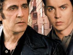 Al Pacino and Johnny Depp Donnie Brasco, Al Pacino, Johnny Depp, Good Movies, New York City, Handsome, Popcorn, Guys, Wallpaper Desktop