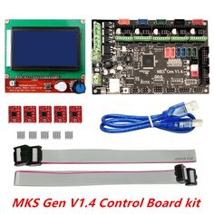 3D printer kit MKS Gen V1.4 with MKS Gen V1.4 RepRap board + 5PCS A4988 Driver + 12864 Graphic LCD