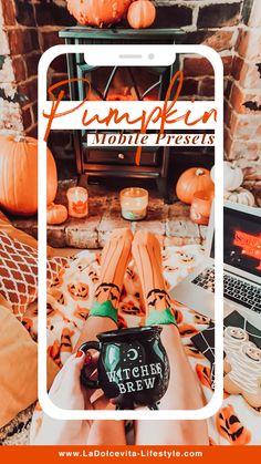 Vsco, Witches Brew, Camera Settings, Nature Pictures, Lightroom Presets, Orange Color, Adobe, Pumpkin, Autumn