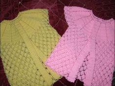 Tığ İşi Bebek Elbisesi Nasıl Yapılır? (Baştan Sona Anlatım) - bebek örgü modelleri - YouTube Baby Knitting Patterns, Baby Patterns, Crochet Patterns, Crochet For Kids, Free Crochet, Crochet Top, Baby Vest, Baby Cardigan, Baby Blanket Crochet