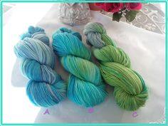 100% Merino Sockenwolle - 100g - herrliche Färbung von Atelier van der Valk auf DaWanda.com