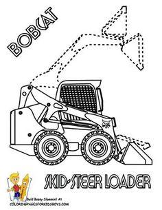 John Deere 460 Dump Truck Construction Coloring Page. You