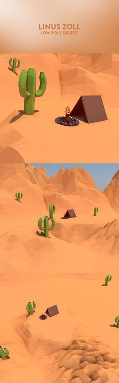 Low Poly Desert: