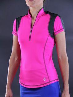 448559e27b1301 JoFit Ladies  amp  Plus Size Oracle Golf Tops - Mojito (Fluorescent Pink)