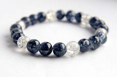 black crackle glass stretch bracelet £5.00