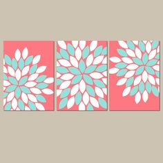 Shop the latest Aqua Crib products from TRM Design, Wall Lillies, Bold Bedding, happyquilts on Etsy and more on Wanelo, the world's biggest shopping mall. Art Wall Kids, Nursery Wall Art, Nursery Ideas, Room Ideas, Girl Nursery, Girl Room, Decor Ideas, Nursery Pictures, Wall Art Pictures
