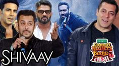 Bollywood Promotes Ajay Devgn's Shivaay, Salman Khan On Comedy Nights Bachao Taza Bollywood Gossip, Bollywood News, Comedy Nights, Salman Khan, Promotion, Movie Posters, Movies, Fictional Characters, Films