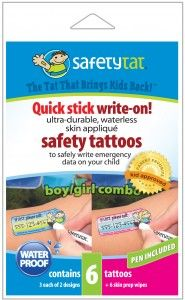 Giveaway is for (1) Quick Stick Write On Multi 6 Pack From Safety Tat. Ends 12/1/13.