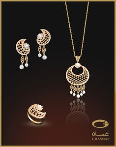 Asala Collection: half set 21 K gold. Code:VH-0057. Weight 25.90 gr. Collection available at ghassanonline.com  http://www.youtube.com/watch?v=1ti_PW-CEvs