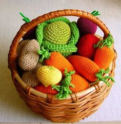 pinterest manualidades tejidas a crochet frutas y verduras - Buscar con Google