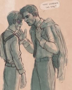 """""""I had him on the ropes,"""" Steve mumbled, unable to meet Bucky's eyes as the shame began burning his bruised cheeks. // """"Yeah,"""" Bucky quietly allowed, knocking his forehead gently against Steve's before pulling away. """"Bet they didn't see your fists coming a mile away, punk."""" // And for the first time that day--Steve smiled. """"You know it, jerk."""""""