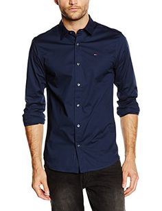 Hilfiger  Denim  Herren  Slim  Fit  Freizeit  Hemd  Original  stretch   shirt  l s,  Blau  (BLACK  IRIS-PT  002),  Gr.  Small Hilfiger Denim Herren  Slim Fit ... f70c7dda42