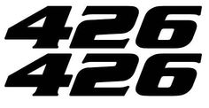 Set of 2 426 engine size decals, fits Muscle Cars, hot rods, rat rods,drag race