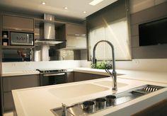 Cozinha Fendi : Cozinhas modernas por Suelen Kuss Arquitetura e Interiores