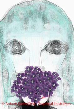© Antxon Castresana - Graphical illustration El pensamiento NO puedes tocarme NO puedes olerme NO puedes verme.Que puedo hacer,escribir y escucharte.Pero te puedo sentir.
