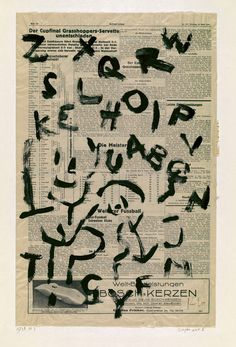 Alphabet I, Switzerland, 1938, by Paul Klee.