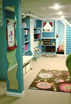 play room cool basement ideas 600x873 Impressive Cool Basement Ideas