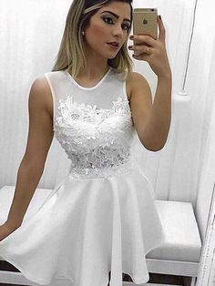 On Sale Dazzling Homecoming Dress White, Appliques Homecoming Dress, Short Homecoming Dress Homecoming Dresses White Homecoming Dresses Short Homecoming Dresses Prom Dress Appliques Homecoming Dresses Homecoming Dresses 2019 White Homecoming Dresses Short, Prom Party Dresses, Short Dresses, Bridesmaid Dresses, Short Prom, Graduation Dresses, Dress Party, Homecoming Dresses For Freshman, Homecoming Dance