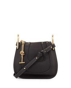 Hayley+Mini+Grain+Leather+Hobo+Bag,+Black+by+Chloe+at+Neiman+Marcus.