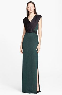 St.+John+Collection+Liquid+Satin+&+Shimmer+Milano+Knit+Gown+available+at+#Nordstrom