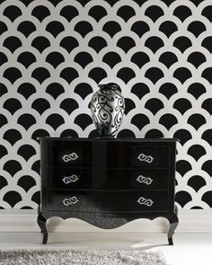 Try wall stencils instead of expensive wallpaper! Cutting Edge Stencils offers the best stencils for DIY decor - stencils expertly designed by professional decorative painters Janna Makaeva and Greg Swisher with over 20 years of painting experience. We are a reputable stencil company who stands behind its high quality product. We are honored to have your 100% positive feedback :) Trendy allover stencil Scallop. Try it for your next DIY wall decorating project! Reusable wall stencils give…