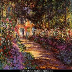 The Flowered Garden    Claude Oscar Monet