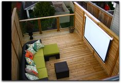 This is cute, a permanent spot for outdoor movies
