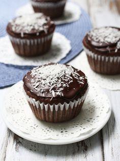 Chocolate Coconut Cupcakes Recipe - RecipeChart.com