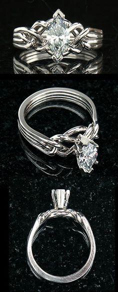 marquise diamond puzzle ring i love marquise diamond cut - Puzzle Wedding Rings