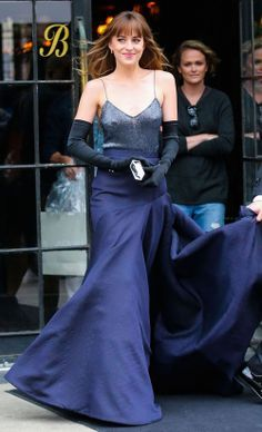 Leaving for the Met Gala, dressed by Jason Woo. I see you Emily