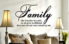 Family like branches on a tree vinyl quote by madebytheresarenee, $10.99