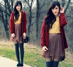 Slouchy Wednesdays (by Bonnie Barton) http://lookbook.nu/look/2975747-Slouchy-Wednesdays    nice combos =) girly and comfy