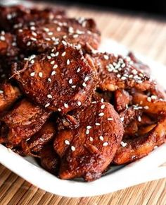 """Picture from: favfamilyrecipes Image Credit: Emily Asian Glazed Chicken """"This chicken is loaded with flavor and low on calories. Asian Chicken Recipes, Asian Recipes, Chicken Meals, Teriyaki Chicken, Asian Foods, Chinese Recipes, Cat Recipes, Chinese Food, Yummy Recipes"""