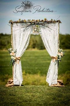 I LOVE THIS!!!! Awesome prop for pictures!!! Rustic Wedding Arches | Rustic Wedding arch my mom made me