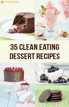Are you a dessert junkie?which is why I'm so excited about these 35 clean eating dessert recipes! Delicious Desserts, Dessert Recipes, Yummy Food, Clean Eating Recipes, Cooking Recipes, Raw Recipes, Sweet Recipes, Healthy Recipes, Clean Eating Desserts