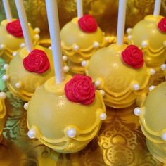 Princess Belle Cake Pops