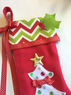girls christmas stocking by matchymishka on etsy - Girls Christmas Stocking