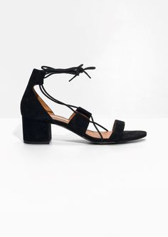 & Other Stories image 1 of Suede Lacing Sandal in Black