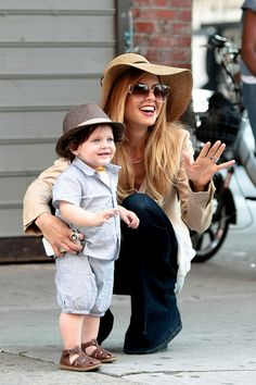 Rachel Zoe and her son Skyler