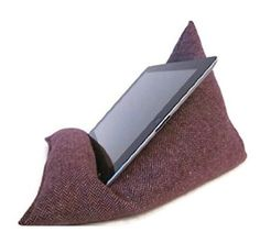 Tweed Wool iPad Pillow - iPad Pro Cushion - Tablet - Kindle Prop  £12.00