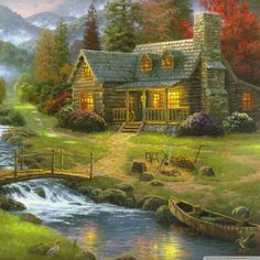 Thomas Kinkade Kostenlos Freie Bilder Auf Ihrem Desktop Und Tapeten Wallpapers Resolution : Filesize : kB, Added on March Tagged : thomas kinkade Nature Paintings, Beautiful Paintings, Landscape Paintings, Art Paintings, House Paintings, Ocean Paintings, Landscape Pictures, Art Nature, Nature Pictures