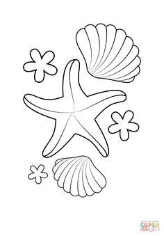 16 Best Photos Of Free Printable Seashell Stencils Shell