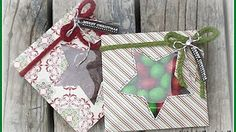Punch Board Treat Box made using Stampin' Up products - YouTube